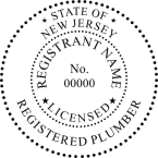 New Jersey Licensed Master Plumber Seals