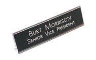 2 x 10 aluminum desk signs made daily online! Free same day shipping. No sales tax - ever.