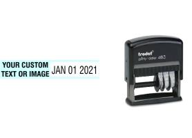Order Now! Trodat 4813 Local Date Stamp. Add custom text or artwork next to the adjustable date. Free Shipping. No Sales Tax - Ever!