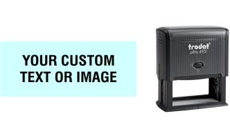 Order Now! Trodat Printy 4931 Custom Rubber Stamp. Add lines of text, upload artwork, or both. Free Shipping. No Sales Tax - Ever!