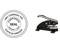EZ Desk Corporate Seal Embossers Made Daily Online! Free same day shipping. No sales tax-ever!
