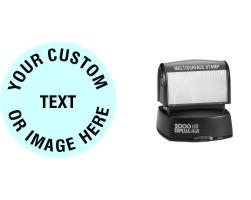 Order the Round HD R40 Stamp is a pretty standard size for a custom round stamp at 1 5/8 inches in diameter. No sales tax ever!