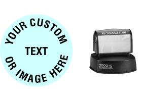 The Round HD R50 Multi Surface Stamp is the largest pre-inked round stamps at 2 inches in diameter. No sales tax ever.