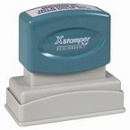 Xstamper N11 compact pre-inked bank endorsement stamp made daily online! Free Same Day Shipping. No sales tax - ever!