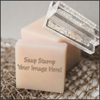 "Acrylic Soap Stamp 0.75"" x 1.5"" Made Daily Online! Free Same Day Shipping. No Sales Tax - Ever!"