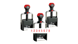 Shiny Heavy Duty Number Stamps