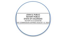 Colorado Notary Seals