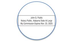 Alabama Notary Seals