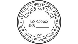 California Registered Professional Engineer Seals