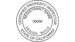 California Certified Property Inspector Seals