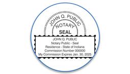 Indiana Notary Seals