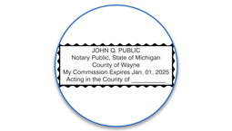 Michigan Notary Seals