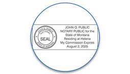 Montana Notary Seals