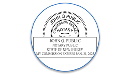 New Jersey Notary Seals