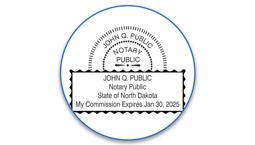North Dakota Notary Seals