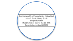 Pennsylvania Notary Seals