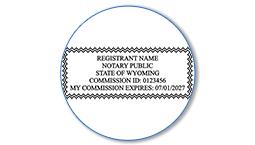 Wyoming Notary Seals