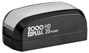 The HD 20 Pocket Stamp is the perfect size for your small stamp needs and easily fits in your pocket or purse for stamping on the go. Free same day shipping. Excellent customer service. No sales tax - ever.