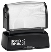 The 2000 Plus HD20 is the perfect size for your small stamp needs, from small address stamps to bank endorsement stamps. Free same day shipping. Excellent customer service. No sales tax - ever.