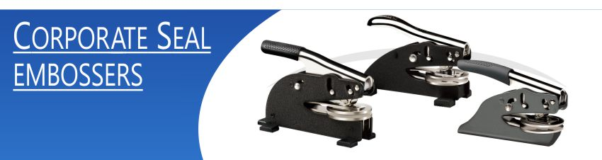 Corporate seal embossers made daily online. Free same day shipping. No sales tax - ever.