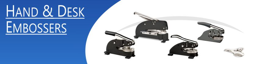 Custom embossers made daily online. Free same day shipping, no sales tax - ever.