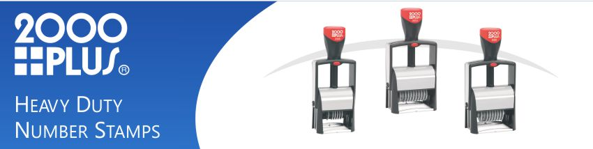 2000 Plus Heavy Duty Number Stamps made and shipped daily from Stamp-Connection.
