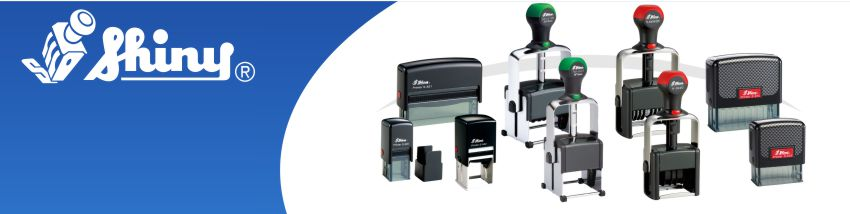 Order Now! Shiny Brand Self-Inking Stamps in all shapes, sizes, and configurations. Custom text, daters, numbering, and more. Free Shipping. No Sales Tax - Ever!