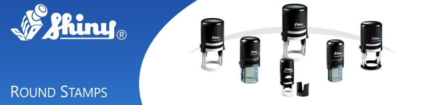 Order Now! Shiny Round Self-Inking Stamps are plastic, lightweight, and perfect for inspectors, addresses, seals, and more. Free Shipping. No Sales Tax - Ever!