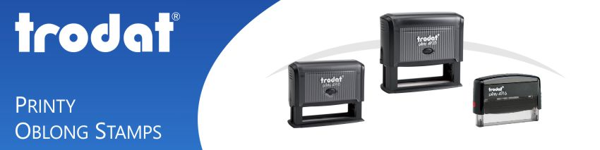 Trodat Non-Core Oblong Rubber Stamps made and shipped daily from Stamp-Connection.