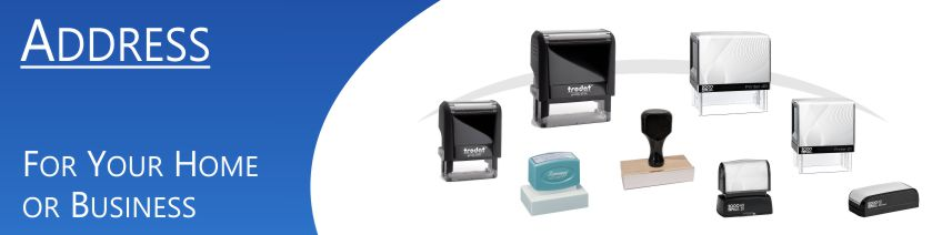 Order Now! Customized Rubber Address Stamps. Choose from different sizes, number of lines, ink colors, and more. Free Shipping. No Sales Tax - Ever!
