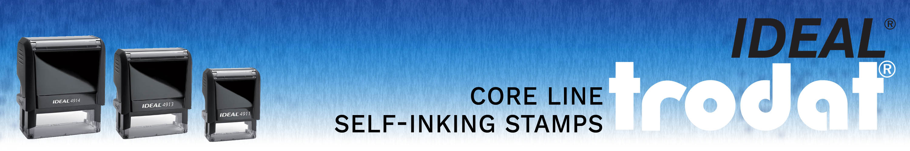 Trodat Core Line Self-Inking Rubber Stamps made and shipped daily from Stamp-Connection.