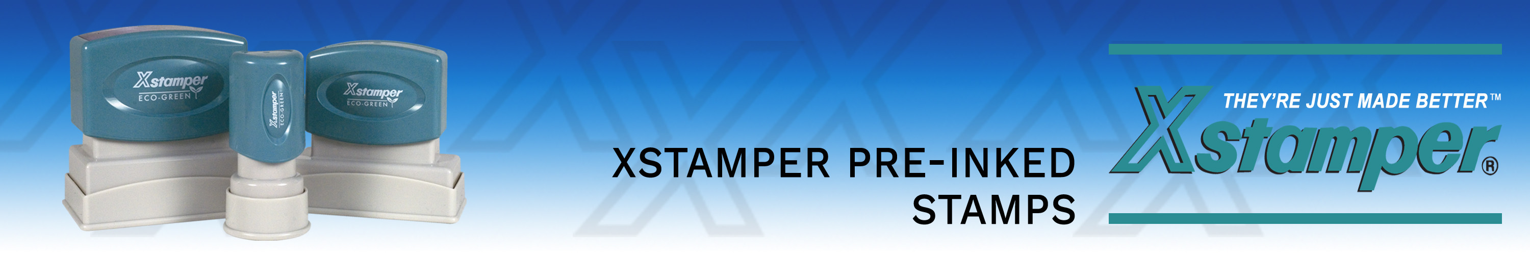 Xstamper Rubber Stamps made and shipped daily from Stamp-Connection.