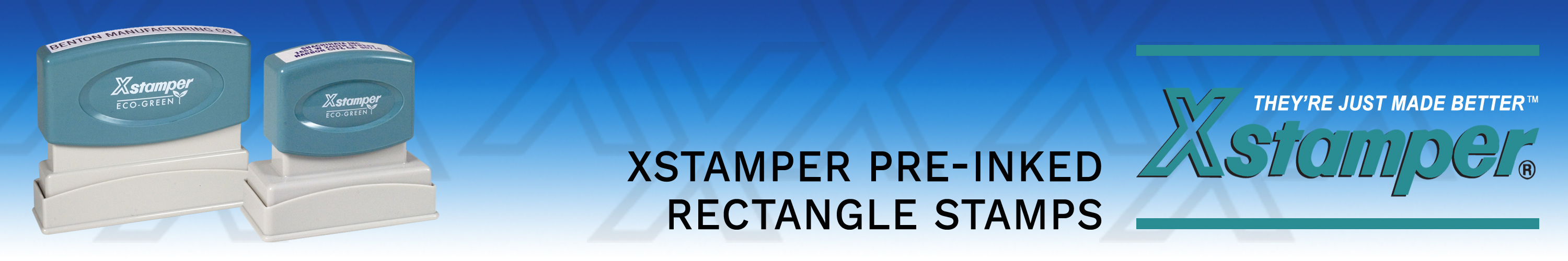Xstamper Rectangle Stamps customized for you. Made and shipped daily.  No sales tax ever.