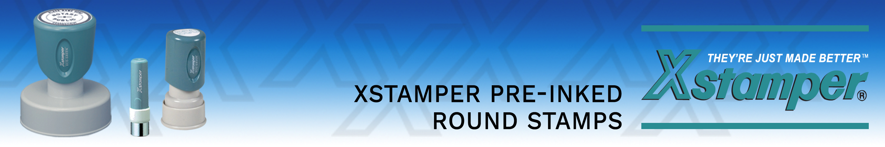 Xstamper Round Stamps Made and shipped daily. Free same day shipping. No sales tax - ever.