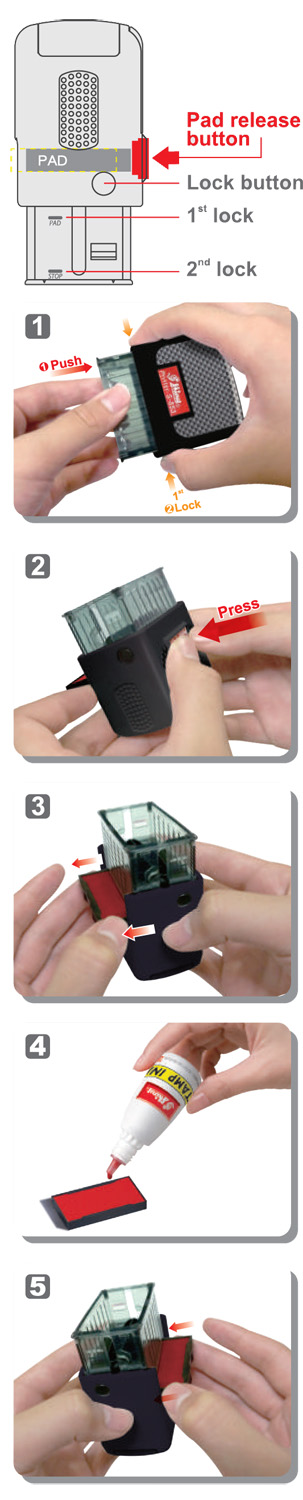 Shiny Self Inking Stamp Pad Replacement Graphic - small