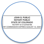 Colorado Notary Seals