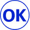 """Order Now! Xstamper Round Stock stamp with the phrase 'OK'. 5/8"""" Diameter. Available in 11 colors. Free Shipping! No Sales Tax - Ever!"""