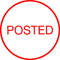"""Order Now! Xstamper Round Stock stamp with the phrase 'POSTED'. 5/8"""" Diameter. Available in 11 colors. Free Shipping! No Sales Tax - Ever!"""