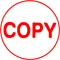 """Order Now! Xstamper Round Stock stamp with the phrase 'COPY'. 5/8"""" Diameter. Available in 11 colors. Free Shipping! No Sales Tax - Ever!"""