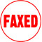 """Order Now! Xstamper Round Stock stamp with the phrase 'FAXED'. 5/8"""" Diameter. Available in 11 colors. Free Shipping! No Sales Tax - Ever!"""