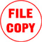 """Order Now! Xstamper Round Stock stamp with the phrase 'FILE COPY'. 5/8"""" Diameter. Available in 11 colors. Free Shipping! No Sales Tax - Ever!"""