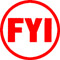 Order Now! X-stamper round stock stamp with 5/8 inch impression 'FYI'. Available in 11 colors. Free Shipping! No Sales Tax - Ever!