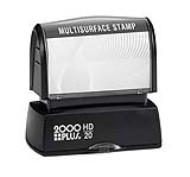 The HD 20 Multi Surface Stamp is the perfect size for your small stamp needs, from small address stamps to bank endorsement stamps. No sales tax ever.