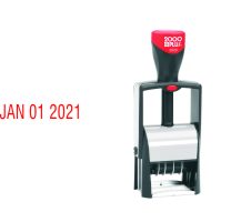 The 2000 Plus 2020 Date Stamp from Stamp-Connection is equipped with Band Shield Technology to help keep ink away from your fingers and clothes.