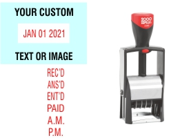 Easily date and sort your office documents with the 2000 Plus 2360 Self-Inking Date Stamp. No sales tax ever.