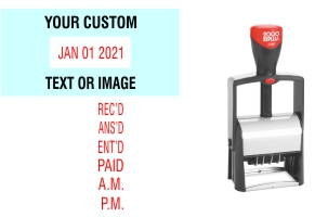 Make your 2000 Plus 2460 Date Stamp your own with up to 4 customizable lines at Stamp-Connection.com. No sales tax ever.