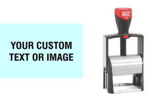 Order Now! The 2000 Plus Classic Line 2600 Stamp is perfect for return address, endorsement, company logo, and custom designed stamps. Free Shipping. No Sales Tax - Ever!