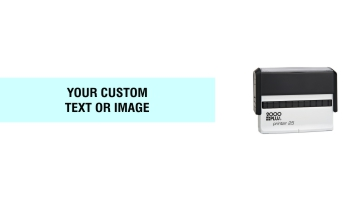 When you need a wider self-inking stamp with enough room for your custom message, the 2000 Plus Printer 25 Stamp is the ideal stamp to fit your needs. No sales tax ever.
