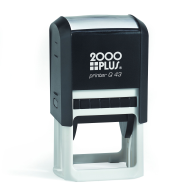2000 Plus Q43 self-inking stamps made daily online. Free same day shipping. Excellent customer service. No sales tax - ever.
