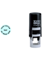 Order Now! 2000 Plus Printer R12 Round Self-Inking Stamp. 1/2 inch diameter impression. Free Shipping! No Sales Tax - Ever!